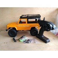 Rc jeep offroad land rover defender kuning 4x4 mn 90 RTR plus remot