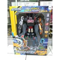 Mainan robot Tobot magma althon gabungan 6 tobot althon 35cm