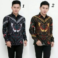 kemeja batik pria batik kantor motif cendrawasih abu limited edition.