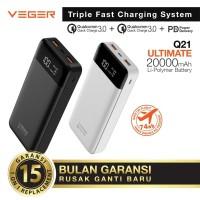powerbank Veger 20000 mah real kapasitas