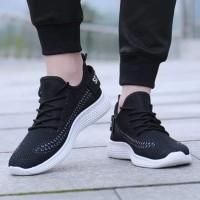 Sneaker Sepatu Slip On Olahraga Jogging Lari Cowok Import Original