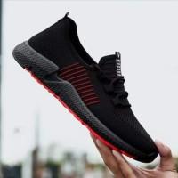 Sneaker Sepatu Slip On Olahraga Lari Sekolah Cowok Import Original