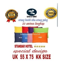 SARUNG BANTAL TIDUR STANDAR HOTEL 55X75 (KK SIZE)