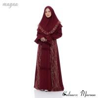 Setelan Muslim Wanita + Khimar | Ghania Syar'i Original | Maroon