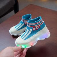 Sepatu anak / children baby boy girl LED luminous casual shoes