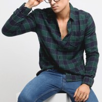 MENTLI Kemeja Flanel Pria - Casey Flannel Shirt