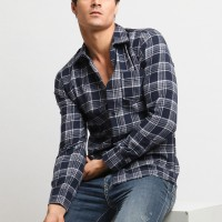 MENTLI Kemeja Flanel Pria - Cleo Flannel Shirt