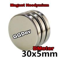 Magnet Neodymium Bulet 30x5 mm Super Kuat Rarely magnet - Silver