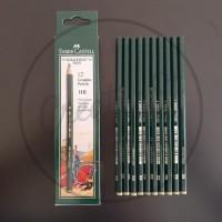 Pensil Komputer Faber Castell 9000 6H-H, F, HB, B, 2B , 3B-8B (PCS) - 6H