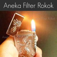 Korek Api Ukir Motif Naga  Regular Flame Lighter