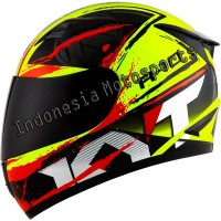 Helm KYT R10 #2 - Yellow Fluo/Black/Red Fluo