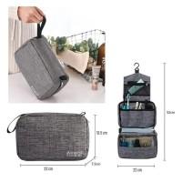 Travel toiletry waterproof Polyester / tas alat mandi dan kosmetik