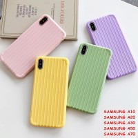 FOR SAMSUNG A10, A20, A30, A50, A70 - LUGGAGE TRAVEL KOPER CASING CASE