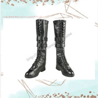 PO Sepatu Boots / Boots Wanita Lady [Devil May Cry 5] - Black Boots