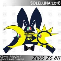 Sticker Decal Helm SOLELUNA 2018 for Zeus ZS-811