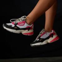 Adidas Falcon Women White Black Pink Original