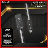 Delcell STEEL Kabel Data Lightning 2 Ampere Fast Charging Original