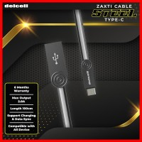 Delcell STEEL Kabel Data Type C 2 Ampere Fast Charging Original