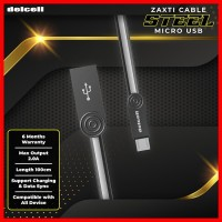 Delcell STEEL Kabel Data Micro USB 2 Ampere Fast Charging Original