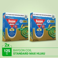 Baygon Coil Standard Max Green 8Hr 125g - TWINPACK