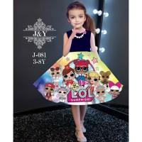 BAJU ANAK PEREMPUAN DRESS IMPORT J&Y LOL SURPRISE NAVY