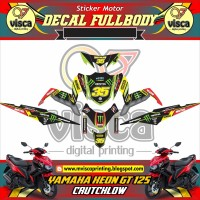 Decal stiker Fullbody YAMAHA XEON GT 125 CRUCTHCLOW