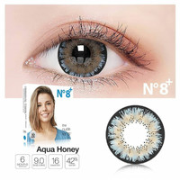 Ice N8 Aqua Honey normal minus s/d -300 biru 16 mm - Softlens