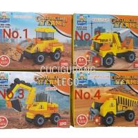 Lego Tentara Army Militer Perang Eskavator Bulldozer Backhoe Construct