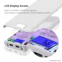 Power Bank Case 8x18650 Micro 2 USB Port 3.1A DIY LCD Digital Display