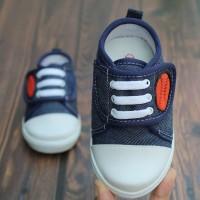 sepatu anak laki laki umur 1 2 tahun unik bahan denim model lucu navi