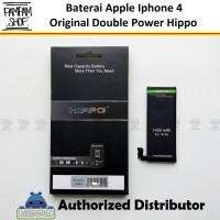 Baterai Hippo Double Power Original Apple Iphone 4 4G Batre Batrai Ori