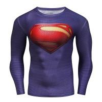 Kaos T-Shirt Pria Lengan Panjang Model Kostum Film Superman Halloween