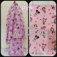 MOM Mukena Anak Kid LOL Motif Stripe uk S M