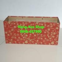 Paperbag Kue Bolu Batik Kraft doff - Hijau
