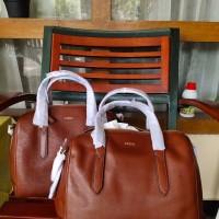 tas Fossil sidney satchel brown