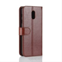 LEATHER CASE SAMSUNG J4+ J6+ J7+ J4 J6 J7 PLUS FLIP COVER SARUNG HP