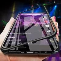 Case MAGNETIC Realme 5s 2in1 Aluminium cover Premium GLASS realme 5 s
