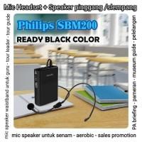 SPEAKER SENAM MIC HEADSET - waistband speaker - PHILIPS SBM200 - Hitam