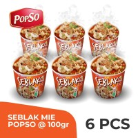 Seblak Cup PopSo Paket isi 6 cup @100 gr x 6
