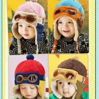 Terhot Topi Bayi Pilot / Baby Pilot Hat Korean - Merah Termurah