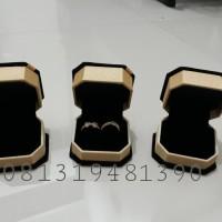 TERMURAH Box Kotak Tempat 2 Cincin Lamaran Tunangan / Kawin Nikah Emas