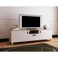 Anya-Living Meja TV Rakki TV Stand - Sonoma Light Cream White