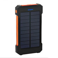 Power Bank Tenaga Surya 20000mAH Solar Cell Waterproof 2 Port USB