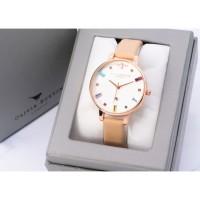 jam tangan OLIVIA BURTON RAINBOW WANITA kulit cream
