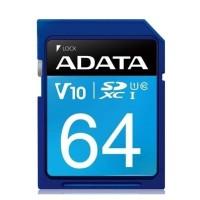 ADATA SD CARD SDXC UHS-I Class10 100MB/s Memory Card Kamera 64 GB Blue