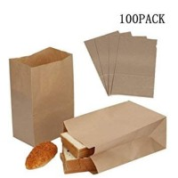 PAPER BAG SIZE M - MEDIUM - SNACK - KANTONG KERTAS ROTI - BROWN