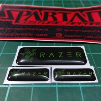 Emblem Stiker Timbul Razer small Sticker 3D Resin Lentur