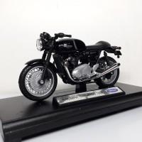 Jual Diecast Miniatur Motor Triumph Thruxton 1200 Skala 1/18 Welly