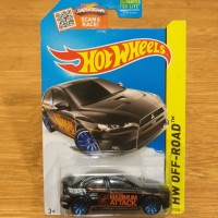 Diecast Hot Wheels Mitsubishi Lancer Evolution Evo X US Card Varian