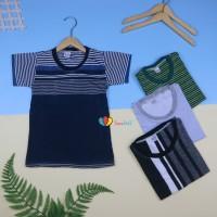 Kaos Salur uk 5-6 th / Baju Lengan Pendek Adem Kaos Salur Anak Laki